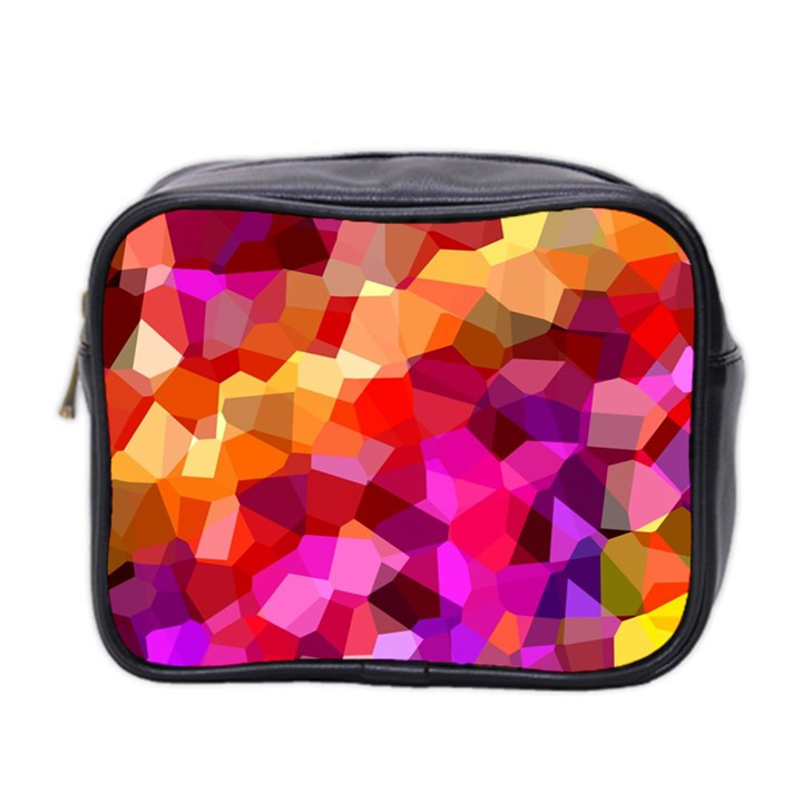 Geometric Fall Pattern Mini Toiletries Bag 2-Side