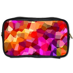 Geometric Fall Pattern Toiletries Bags 2 Side
