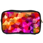 Geometric Fall Pattern Toiletries Bags 2-Side Front