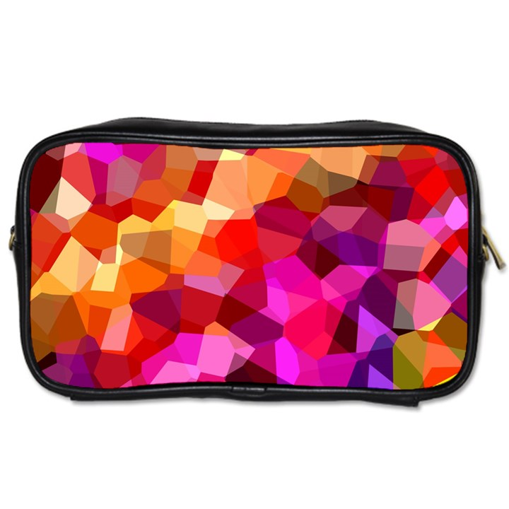 Geometric Fall Pattern Toiletries Bags 2-Side