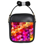 Geometric Fall Pattern Girls Sling Bags Front