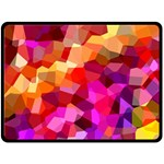 Geometric Fall Pattern Fleece Blanket (Large)  80 x60 Blanket Front