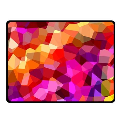 Geometric Fall Pattern Fleece Blanket (Small)