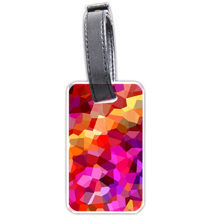 Geometric Fall Pattern Luggage Tags (One Side)