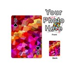 Geometric Fall Pattern Playing Cards 54 (Mini)  Front - Spade5