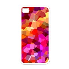 Geometric Fall Pattern Apple iPhone 4 Case (White)