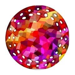 Geometric Fall Pattern Ornament (Round Filigree)