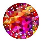 Geometric Fall Pattern Ornament (Round Filigree)  Front