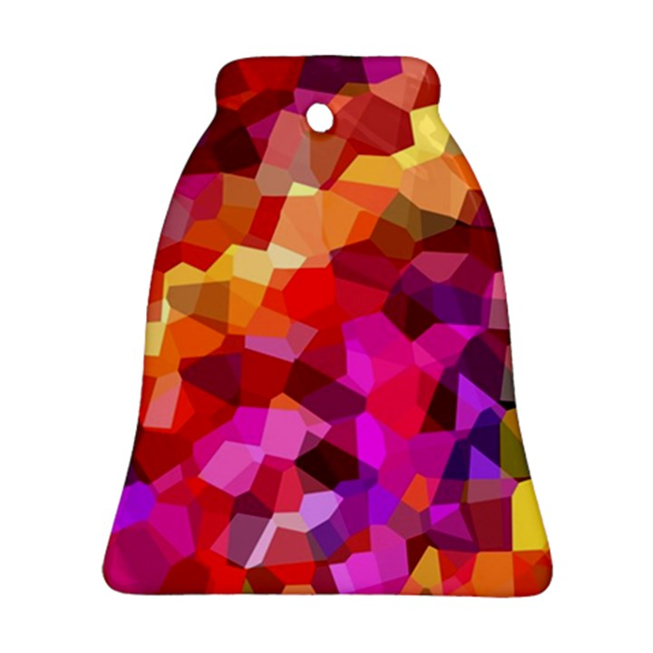 Geometric Fall Pattern Bell Ornament (2 Sides)