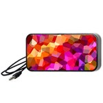 Geometric Fall Pattern Portable Speaker (Black)  Front