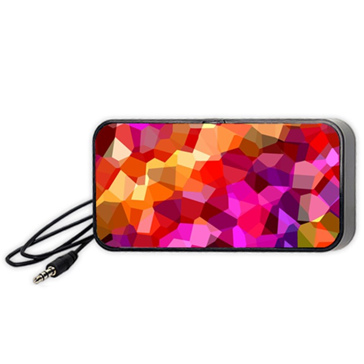 Geometric Fall Pattern Portable Speaker (Black)