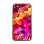 Geometric Fall Pattern Apple iPhone 4 Case (Clear) Front