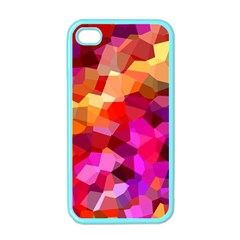 Geometric Fall Pattern Apple Iphone 4 Case (color)