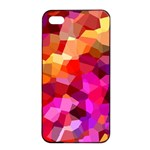 Geometric Fall Pattern Apple iPhone 4/4s Seamless Case (Black) Front