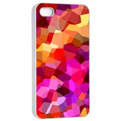 Geometric Fall Pattern Apple Iphone 4/4s Seamless Case (white)