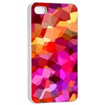 Geometric Fall Pattern Apple iPhone 4/4s Seamless Case (White) Front