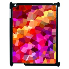Geometric Fall Pattern Apple iPad 2 Case (Black)