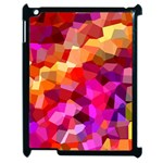 Geometric Fall Pattern Apple iPad 2 Case (Black) Front