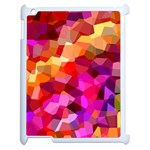 Geometric Fall Pattern Apple iPad 2 Case (White) Front