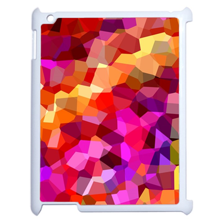Geometric Fall Pattern Apple iPad 2 Case (White)