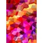 Geometric Fall Pattern Heart 3D Greeting Card (7x5) Inside