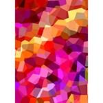 Geometric Fall Pattern Ribbon 3D Greeting Card (7x5) Inside