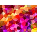 Geometric Fall Pattern TAKE CARE 3D Greeting Card (7x5) Back