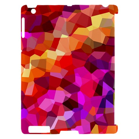 Geometric Fall Pattern Apple iPad 2 Hardshell Case (Compatible with Smart Cover)