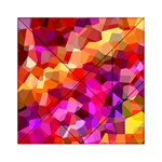 Geometric Fall Pattern Acrylic Tangram Puzzle (6  x 6 ) Front