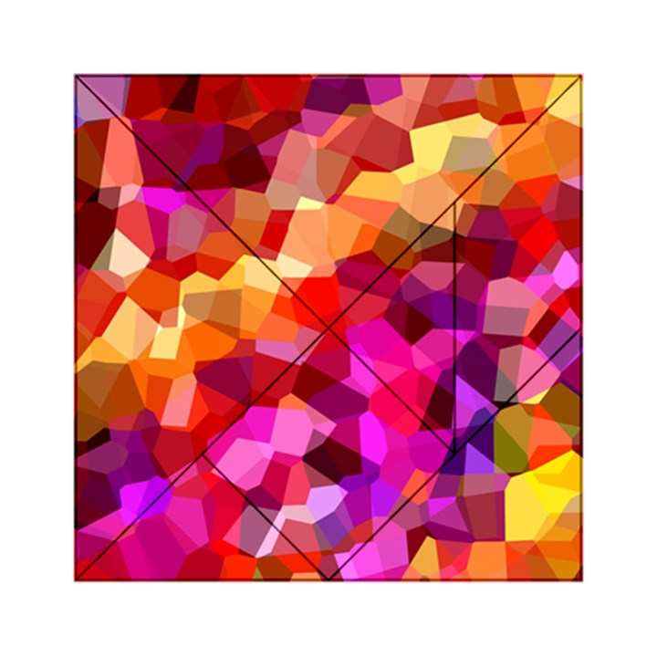 Geometric Fall Pattern Acrylic Tangram Puzzle (6  x 6 )