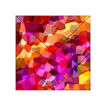Geometric Fall Pattern Acrylic Tangram Puzzle (4  x 4 ) Front