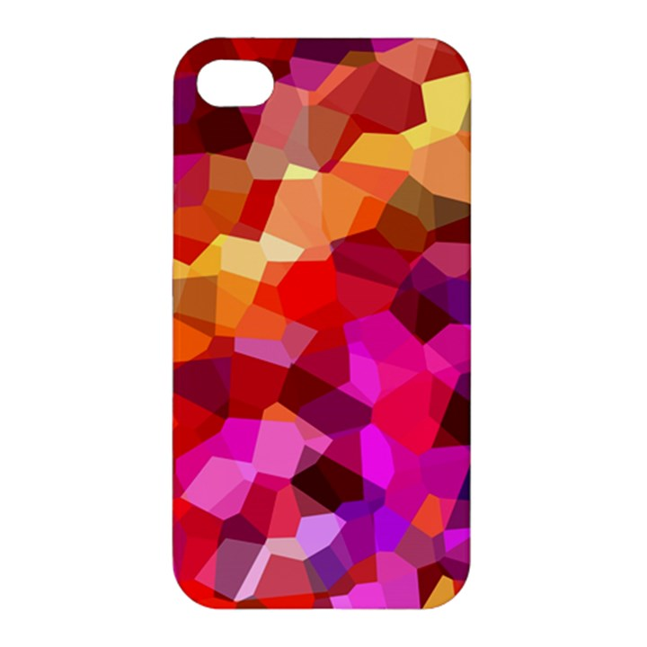 Geometric Fall Pattern Apple iPhone 4/4S Premium Hardshell Case