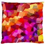 Geometric Fall Pattern Large Cushion Case (One Side) Front