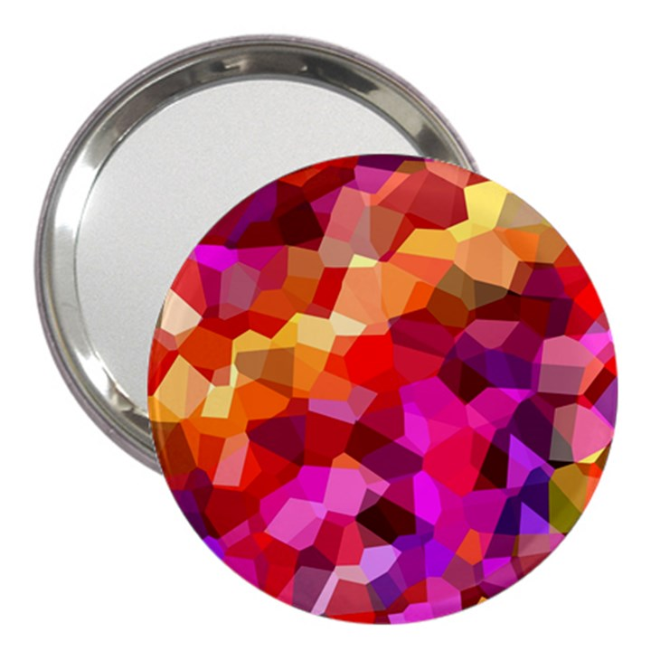 Geometric Fall Pattern 3  Handbag Mirrors