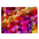Geometric Fall Pattern Cosmetic Bag (XXL)  Back