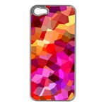 Geometric Fall Pattern Apple iPhone 5 Case (Silver) Front