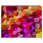 Geometric Fall Pattern Cosmetic Bag (XXXL)  Back