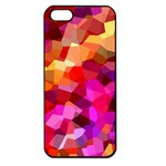 Geometric Fall Pattern Apple iPhone 5 Seamless Case (Black) Front