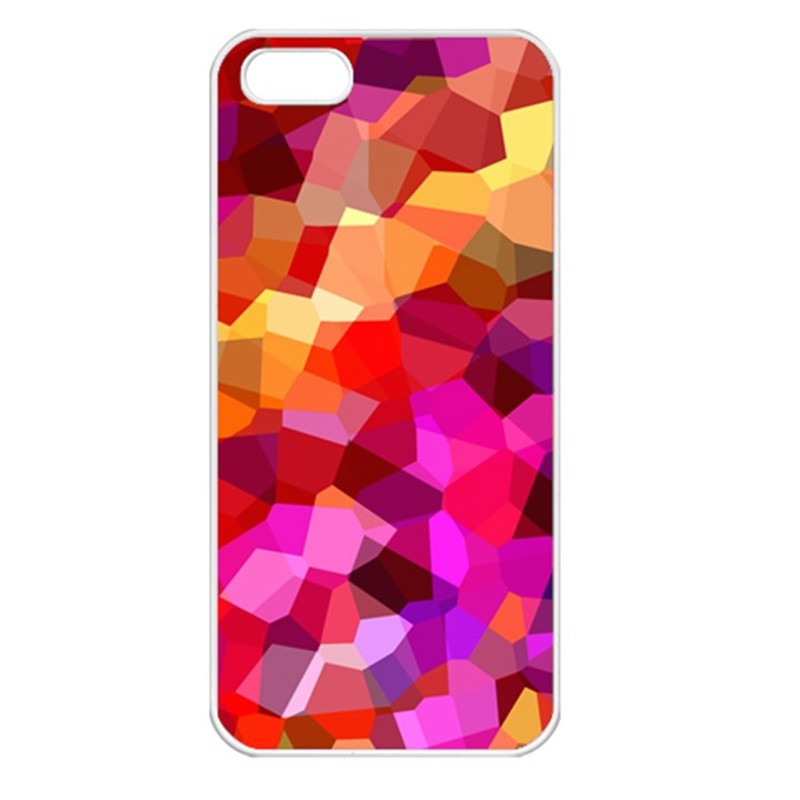 Geometric Fall Pattern Apple iPhone 5 Seamless Case (White)