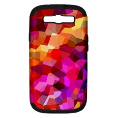 Geometric Fall Pattern Samsung Galaxy S III Hardshell Case (PC+Silicone)
