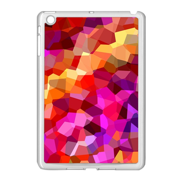 Geometric Fall Pattern Apple iPad Mini Case (White)