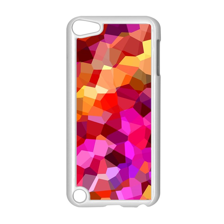 Geometric Fall Pattern Apple iPod Touch 5 Case (White)