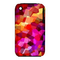 Geometric Fall Pattern Apple Iphone 3g/3gs Hardshell Case (pc+silicone)