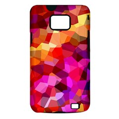 Geometric Fall Pattern Samsung Galaxy S II i9100 Hardshell Case (PC+Silicone)