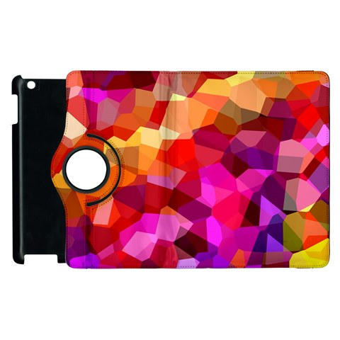 Geometric Fall Pattern Apple iPad 2 Flip 360 Case