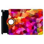 Geometric Fall Pattern Apple iPad 3/4 Flip 360 Case Front