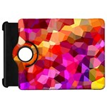 Geometric Fall Pattern Kindle Fire HD Flip 360 Case Front