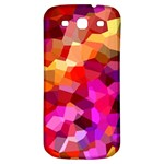 Geometric Fall Pattern Samsung Galaxy S3 S III Classic Hardshell Back Case Front