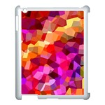 Geometric Fall Pattern Apple iPad 3/4 Case (White) Front