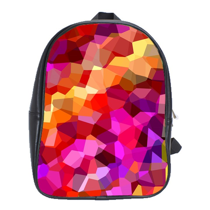 Geometric Fall Pattern School Bags (XL)